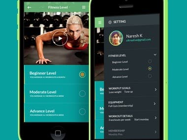 Fitness Mobile App (React-Native)