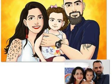 Cartoon Portrait (Family)