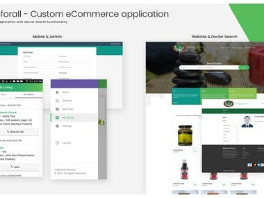 Custom eCommer & Doctor Search (Complete Solution)