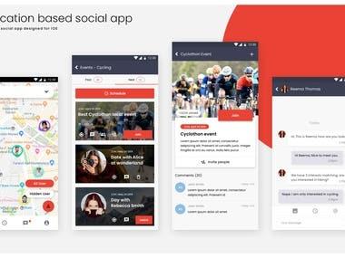 Social connectivity app - (Mobile)