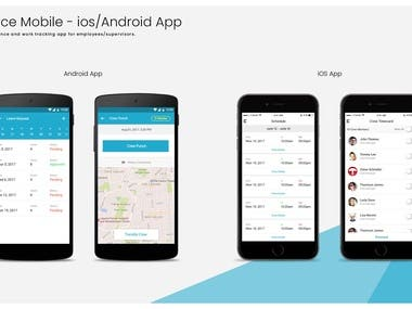 Attendence tracker mobile app - (Android, iOS)