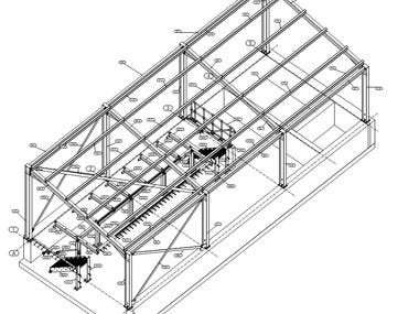 3D modeling and detailing of industrial steel structure