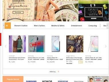 Multi-vendor E-commerce website