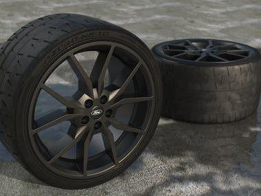 Tyre rendering