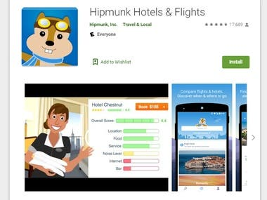 Hipmunk Hotels & Flights Android App