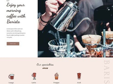 Coffeeshop Template
