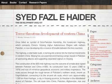 Syed Fazle Haider Blog