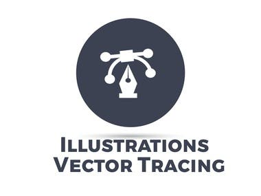 Illustrations & vector tracing