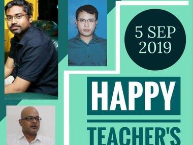 HAPPY TEACHERS`s DAY POSTER