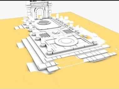 Architectural Desert Diorama