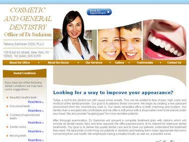 COSMETIC AND GENERAL DENTISTRY Office of Dr Sarkisian