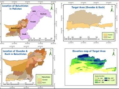 Map of Balochistan, Pakistan