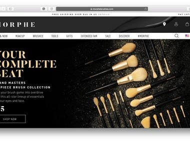 https://www.morphe.com – Shopify website