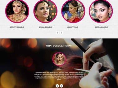 fiza makeup artist website