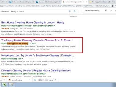 Keyword in Google #1 page