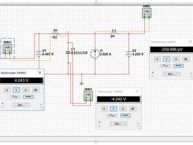 MULTISIM Circuit Calculation