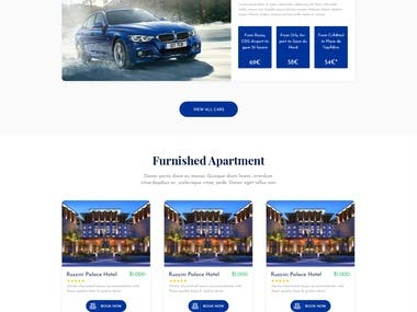 Home page design.