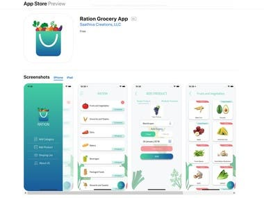 Ration Grocery App