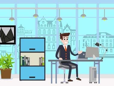 Flat business illustration