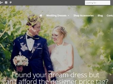 E-Commerce for wedding dresses