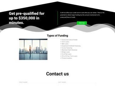 Build landing page using Wordpress Elementor Builder