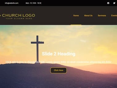 Church Website (Wordpress Elementor Page Builder)