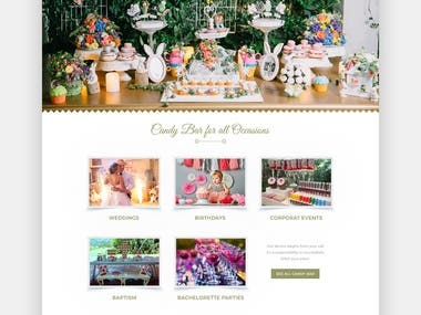 Home page design for event management strat-up