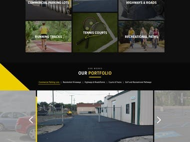 Paving service(home-page design)