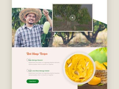 Landing page design for largest agriculture farm in Thailand