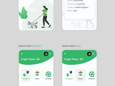 Locations based app design (usa clients)
