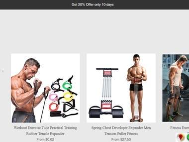 Shopify store design and development