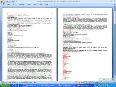 Translation from English to Chinese11