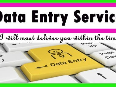 Well come to my data entry services