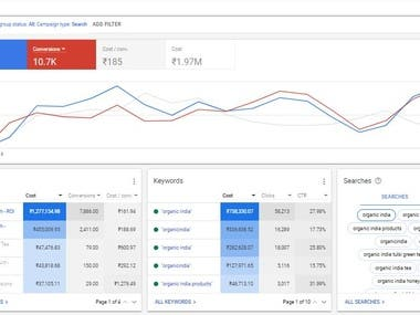 Google adwords campaign for B2C