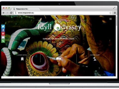 Full Responsive Web development for Idyll Odyssey Holidays