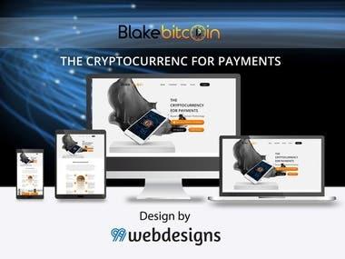 Blake Bitcoin Web Mockup