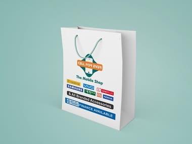 Paper bag for mobile shop