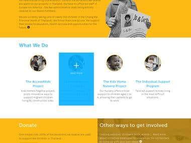 Kids Home fondation website