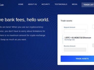 Swapcoin Crypto Exchange