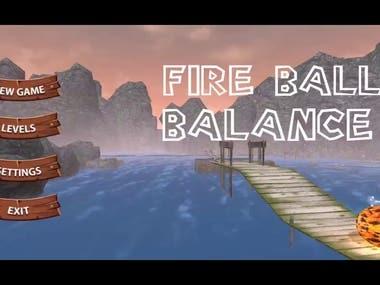Fire Ball Balance 3D