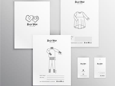 Graphic design for Rada Yash Kidswear