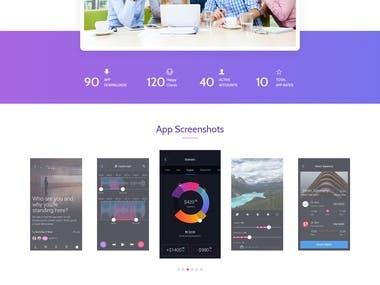 App advertisement website