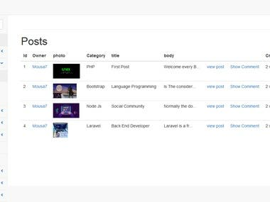 Dashboard Users page