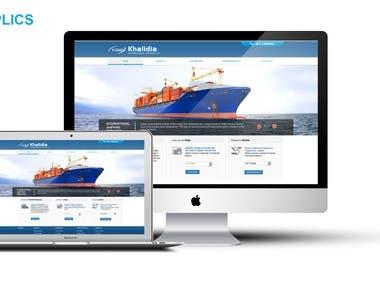 Joomla website for shipping company