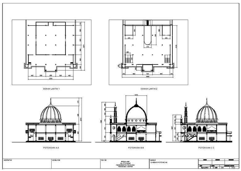 Mosque Plan Autocad File - Educationstander