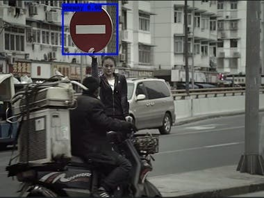 Traffic signs detection in images under real-world condition
