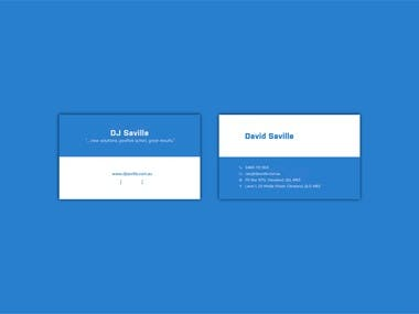 Business Card Design Folio