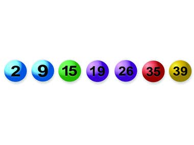 Eight 3D Lotto Ball images