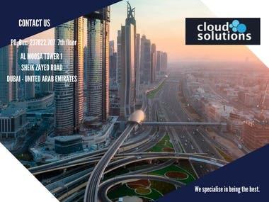 Brochure designed for a Dubai IT firm