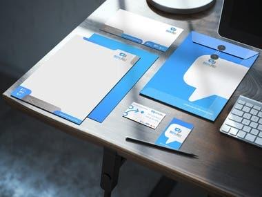Branding stationary set for an Agency